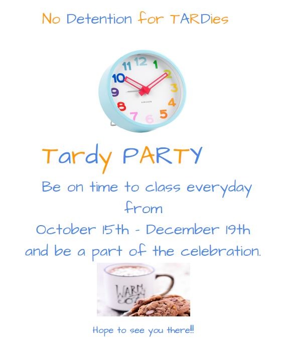tardy party invite